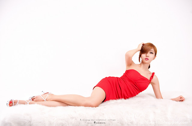 Choi-Byul-I-One-Shoulder-Red-Dress-05-very cute asian girl-girlcute4u.blogspot.com