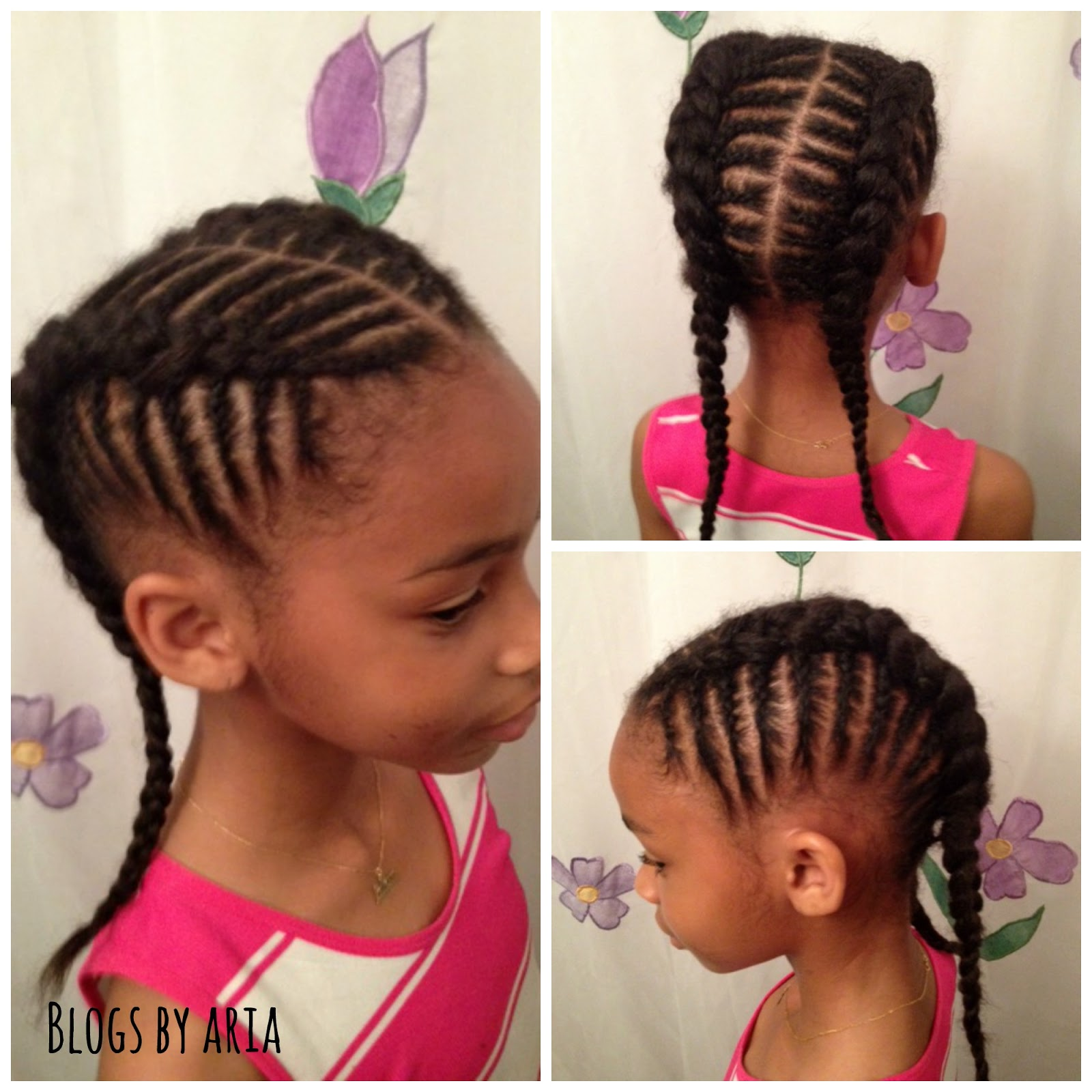 Two Braids Going Back for Black Little Girls