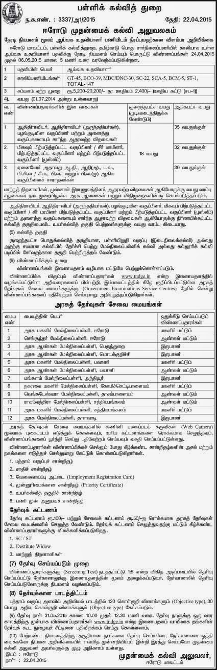 list government exams