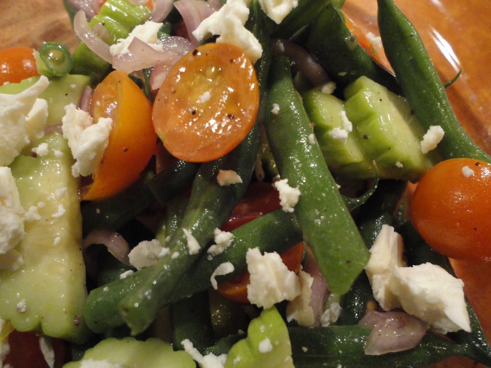 Sage Sprout: Green Bean, Cherry Tomato, and Cucumber Salad