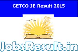 GETCO JE Result 2015