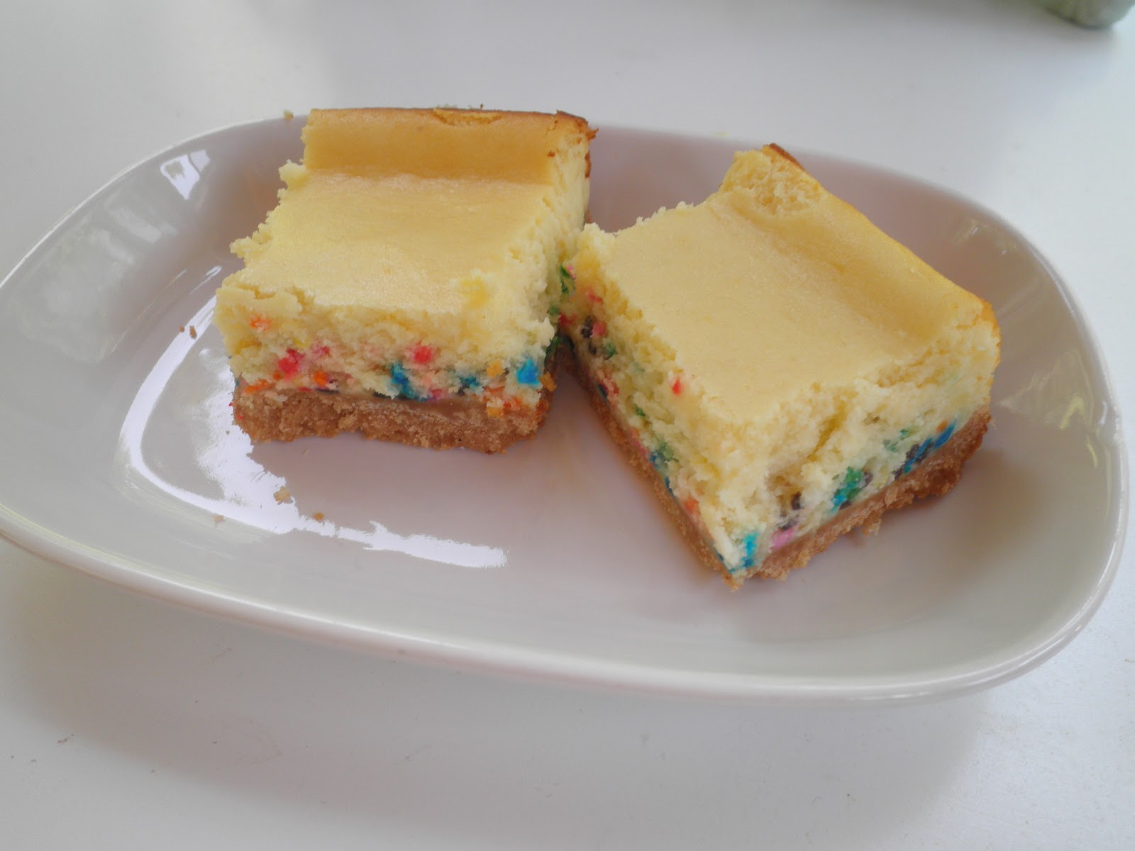 Birthday Cake Cheesecake Bars Image Inspiration of Cake and
