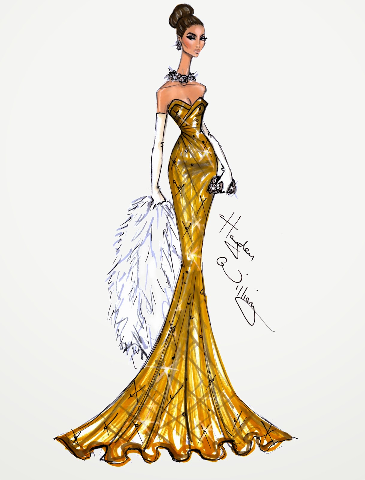 Hayden Williams Fashion Illustrations  January 2014