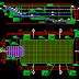 مخطط اوتوكاد كامل لمسبح منزلي مع التسليح piscine plan coupe facade