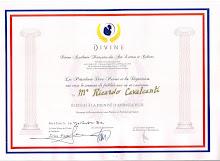 Divine Académie Française des Arts, Lettres et Culure - Diplome de Ambassadeur