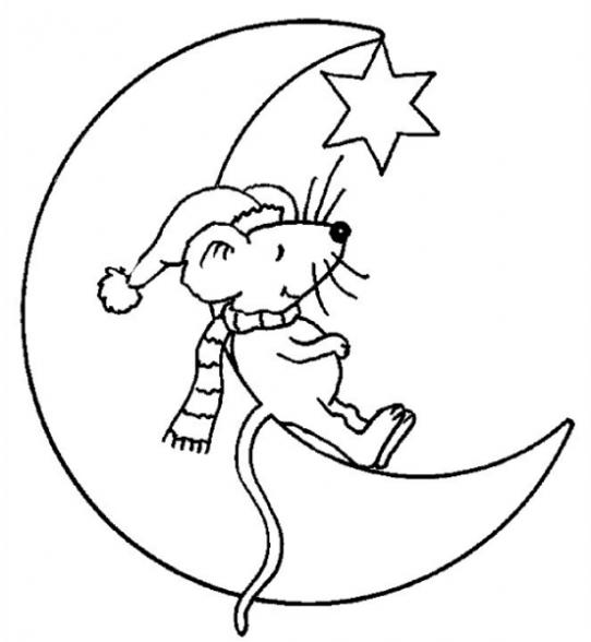 Dibujos para imprimir y colorear luna para colorear - La lune coloriage ...