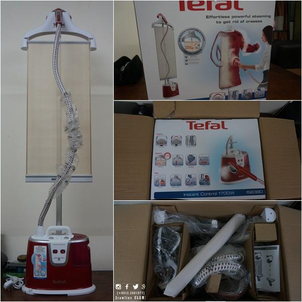 Tefal Garment Steamer, Tefal Instant Control IS8380, steamer pakaian yang murah, steamer pakaian senang, byrawlins, byrawlinsdotcom,