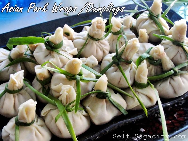 Asian Pork dumplings ready for steaming