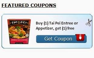 Image: Buy (1) Tai Pei Entree or Appetizer, get (1) free