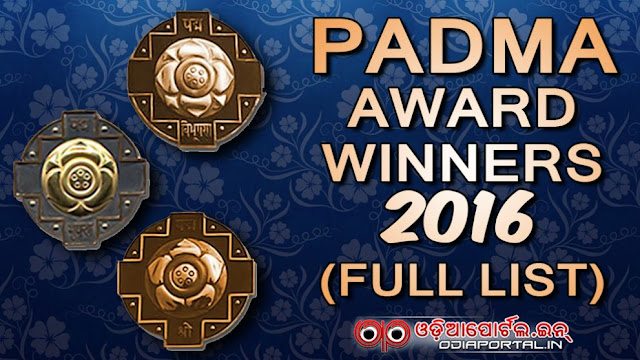 Padma Vibhushan, Padma Bhushan and Padma Shri awards winners list 2015 and 2016. pdf available.  List of 112 *Padma Awards - 2016* Winners (Padma Bhushan, Padma Vibhushan, Padma Shri)