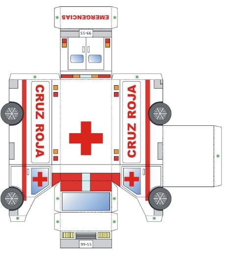 Ambulancia de Papel para Armar