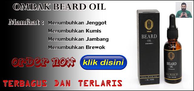 Ombak Beard Oil Serum Penumbuh Jenggot, Breawok, Kumis, Jambang