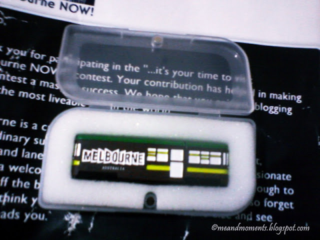 Melbourne pendrive, limited edition of pendrive, flash drive, blogging prizes, indiblogger prizes