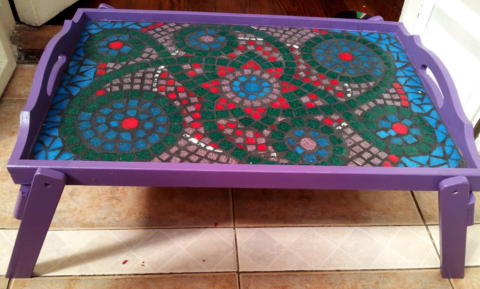 G v mosaicos bandeja con patas - Bandeja con patas ...