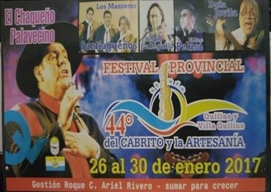 Festival del Cabrito y la Artesania de Quilino y Villa Quilino