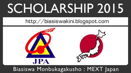 Biasiswa Monbukagakusho : MEXT Japan Scholarships 2015