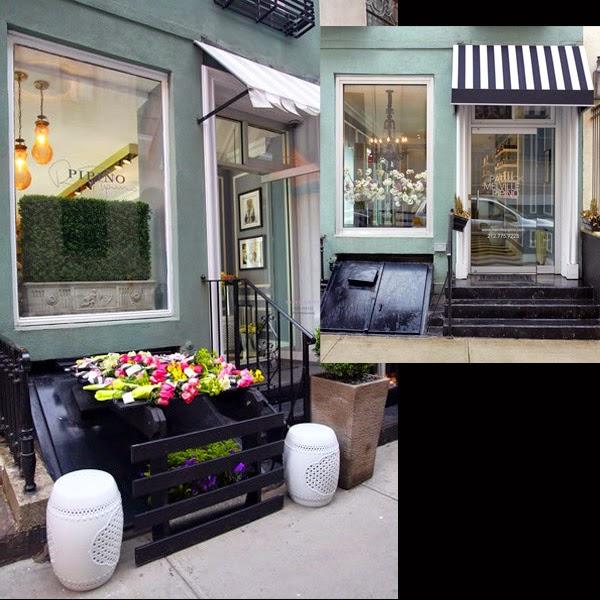 Una peluquer a en blanco negro y turquesa en nueva york - Decoracion de peluquerias fotos ...