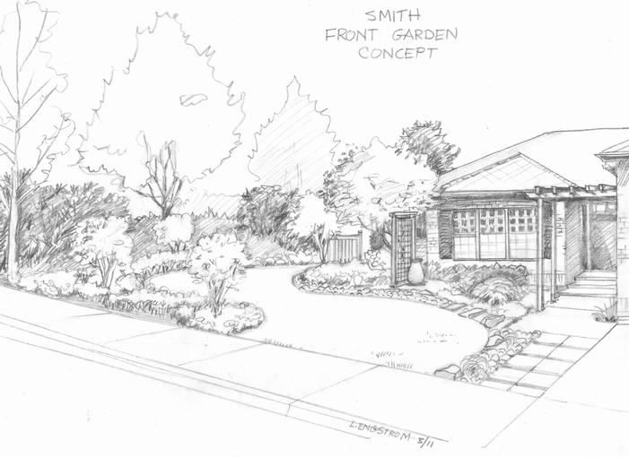 Meanderings and sketches may 2011 for Garden design sketches