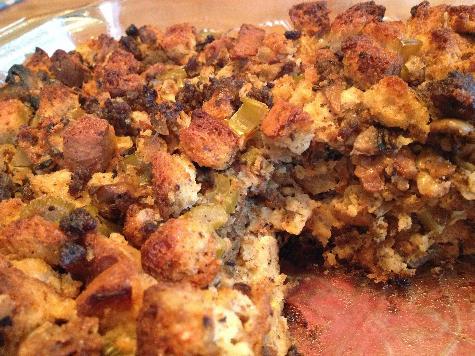 Sausage, Sage And Mushroom Stuffing Recipe — Dishmaps