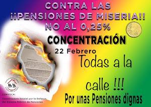 22 de Febrero: Por unas #PensionesDignas