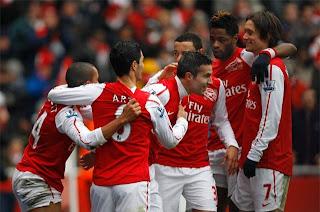 Goleada escandalosa del Arsenal sobre el Blackburn
