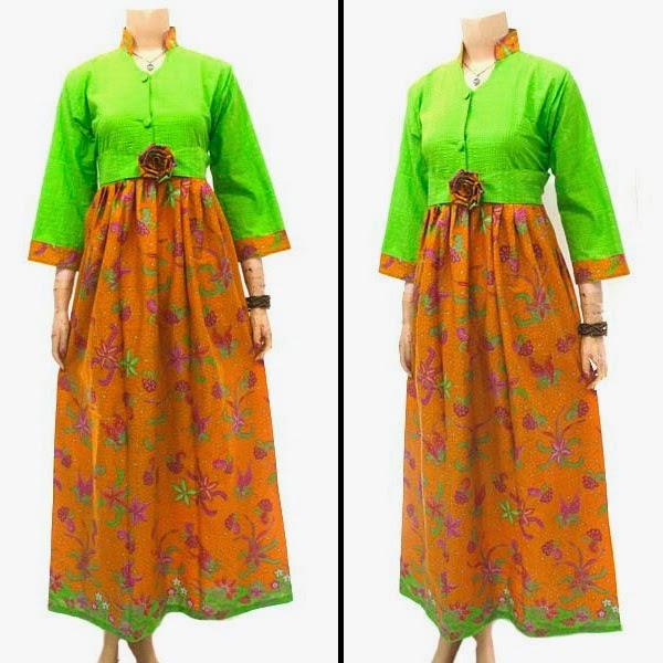 Dress Gamis Bahan Batik Cap | POLOSAN EMBOS