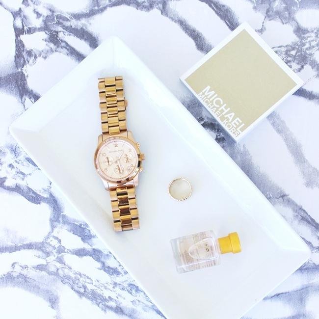 Jelena Zivanovic Instagram @lelazivanovic.Glam fab week.Michael Kors rose gold chronograph watch.