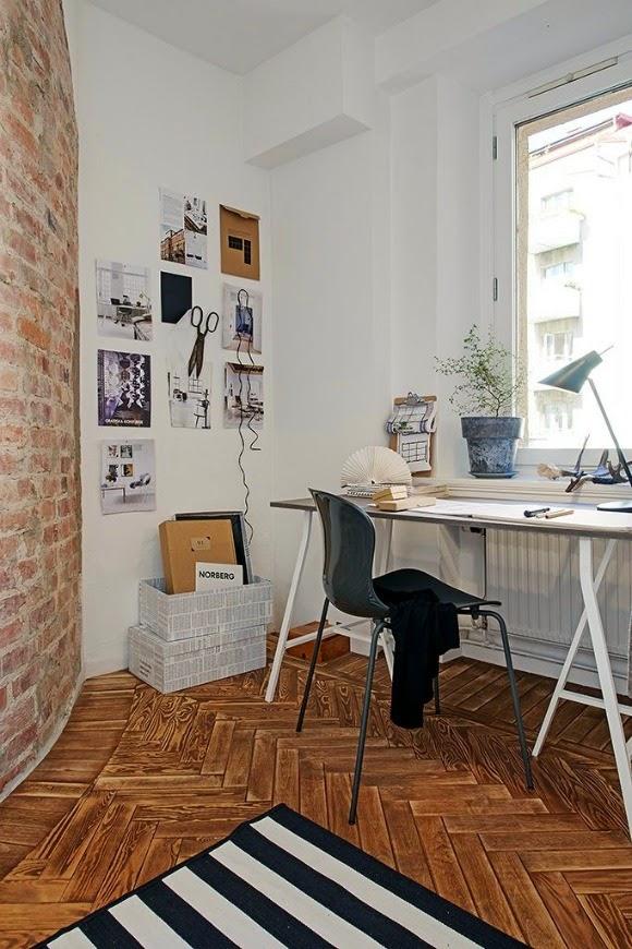 espacio de trabajo vintage