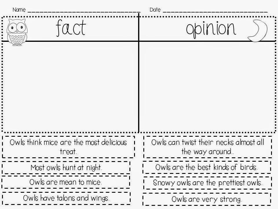 Owl Moon Worksheets – Owl Worksheets