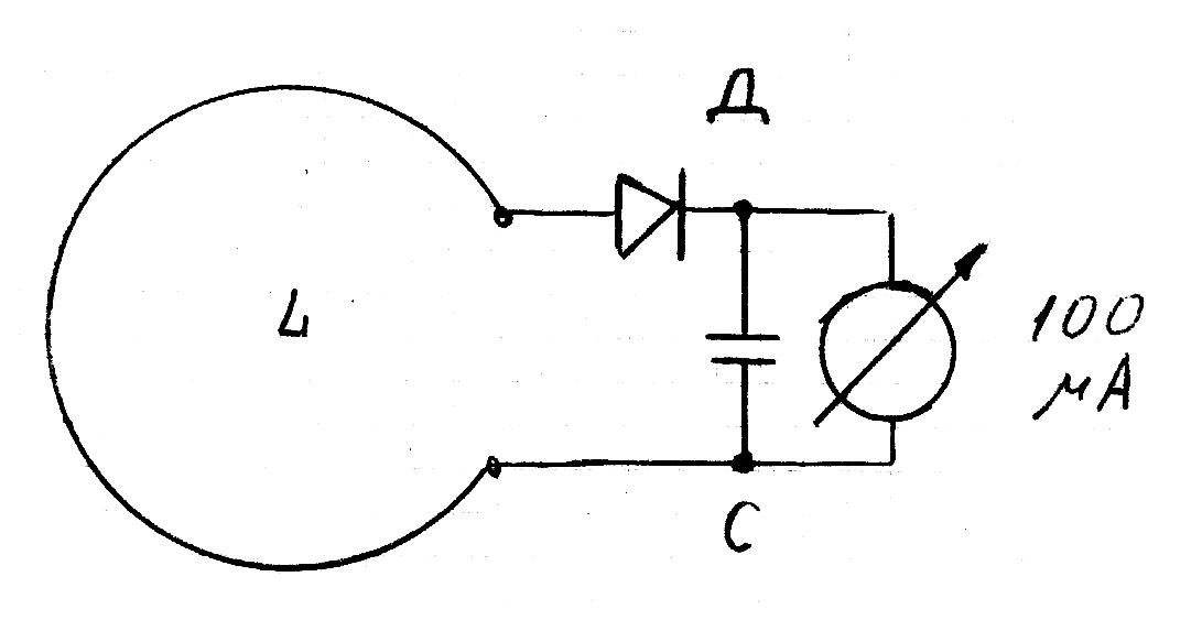 Индикатор электромагнитного поля своими руками