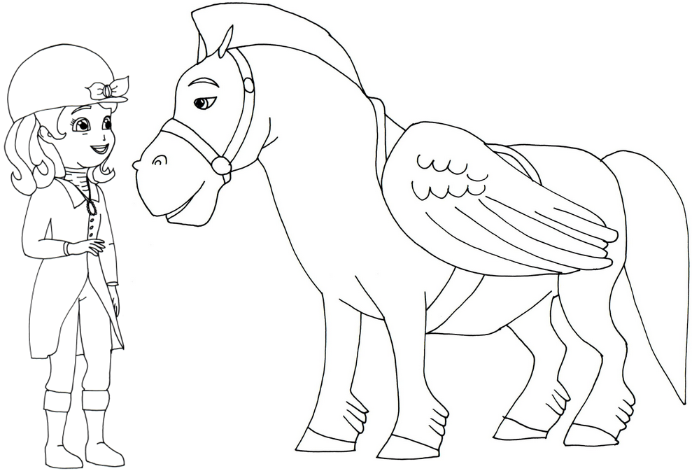 Sofia The First Coloring Pages Minimus and Sofia the First