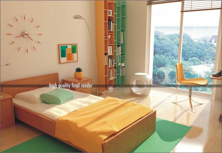 warna warni desain dekorasi kamar tidur anak freewaremini