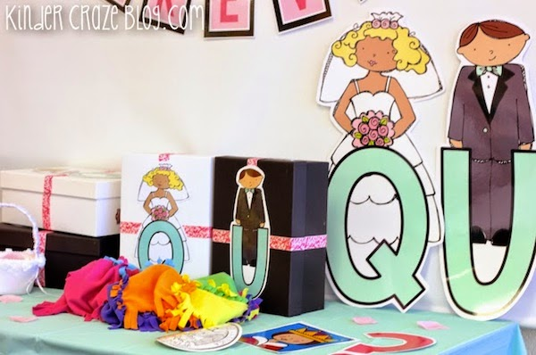 celebrate a Q and U wedding in your kindergarten classroom