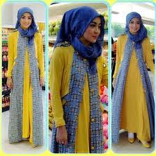 model baju pesta artis berjilbab