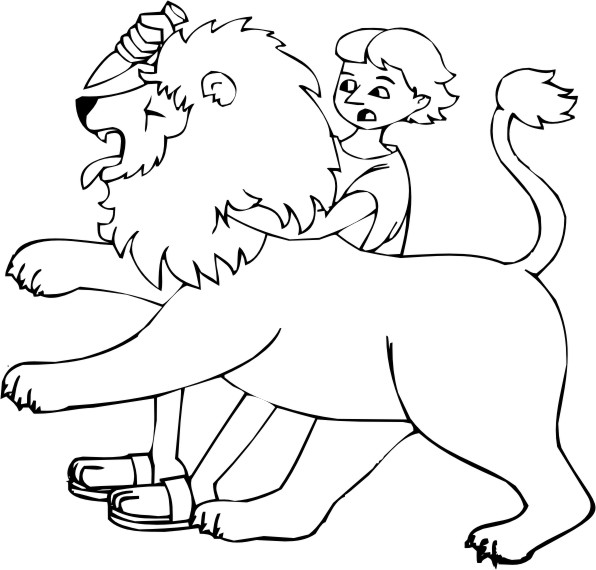 bible coloring pages lions - photo#11