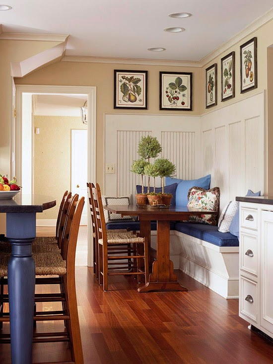 Dining Area With Wainscoting ~ Modern furniture comfort breakfast nook decorating ideas