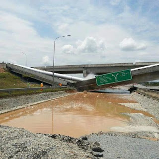 flyover, jambatan, runtuh, putrajaya