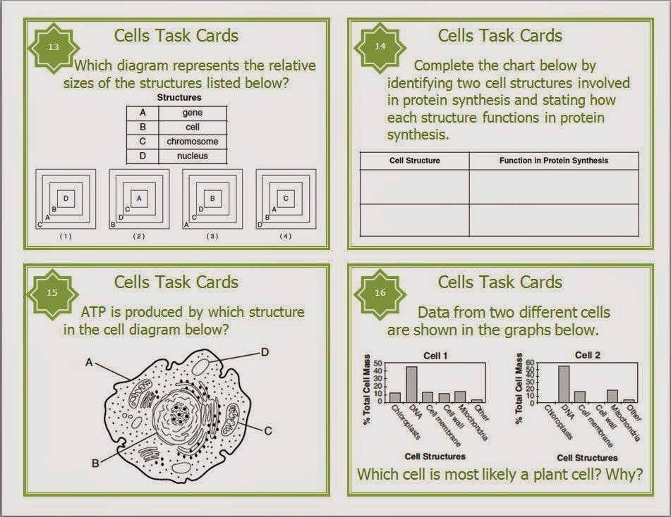 http://www.teacherspayteachers.com/Product/Cells-Task-Cards-for-Middle-and-High-School-1237935