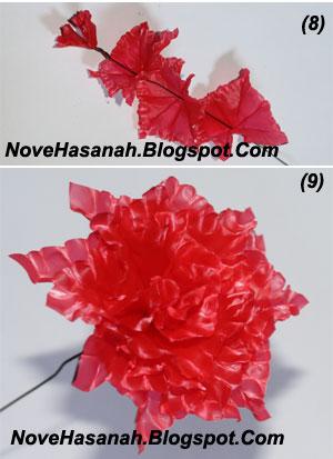 cara membuat bunga dari kantong plastik kresek bekas pakai yang sangat mudah 7