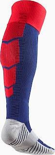 gambar contoh kaos kaki bola barcelona home terbaru musim 2014/2015, ready, harga murah, grosir, toko online jual kaos kaki futsal dan bola lapangan
