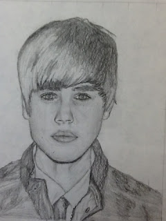 self portrit of Justin Bieber