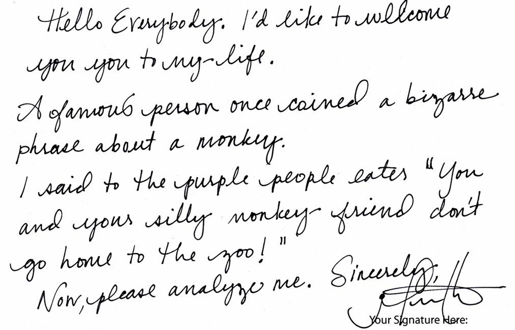Handwriting Cursive