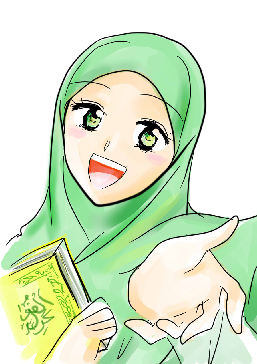 Pic Kartun Muslimah Auto Design Tech