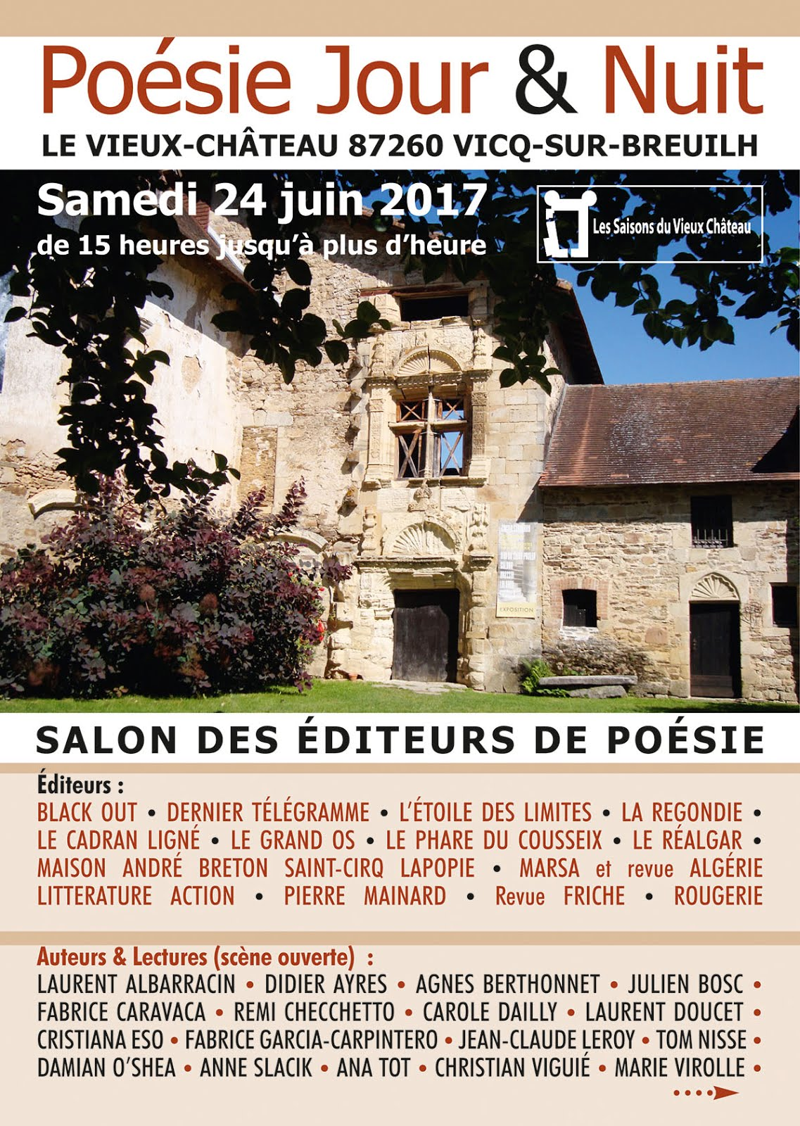 LE CADRAN LIGNÉ & Laurent ALBARRACIN  à Vicq-sur-Breuilh samedi 24 juin 2017