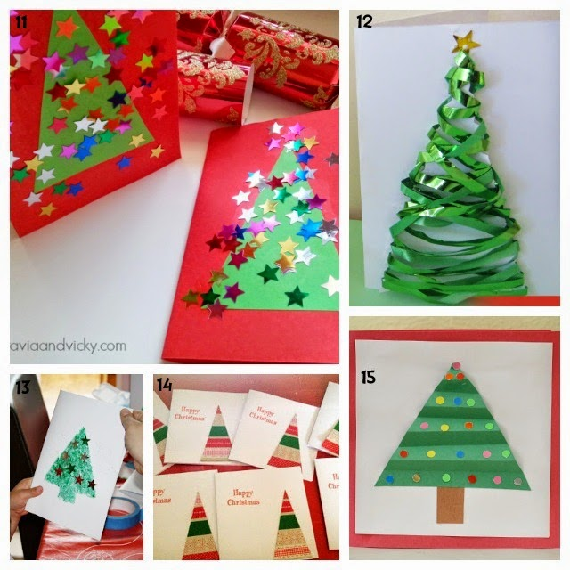 Learn with play at home 25 christmas card ideas kids can make m4hsunfo