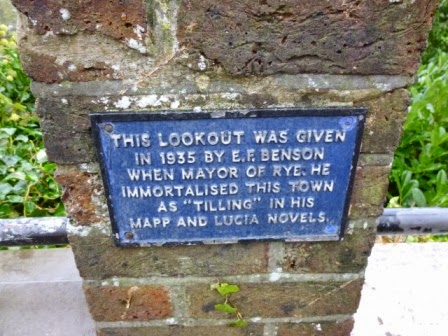 The plaque on the lookout point in Rye, East Sussex