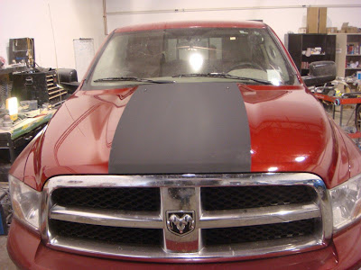 Black Matte Racing Stripe Shield Autobody Edmonton