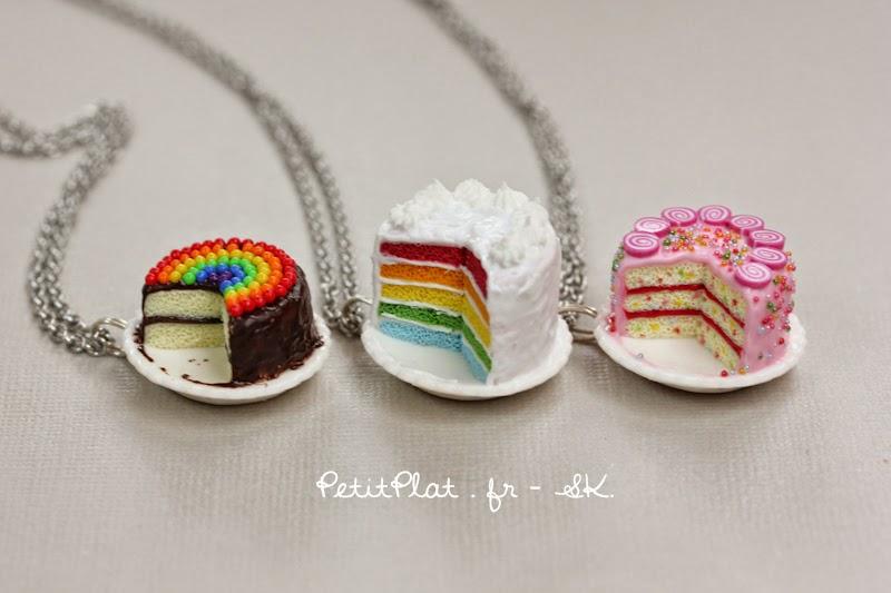 Cake Necklaces - PetitPlat Miniature Art, Stephanie Kilgast