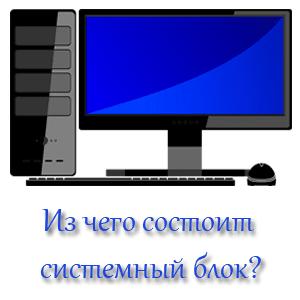 Из чего состоит системный блок компьютера?