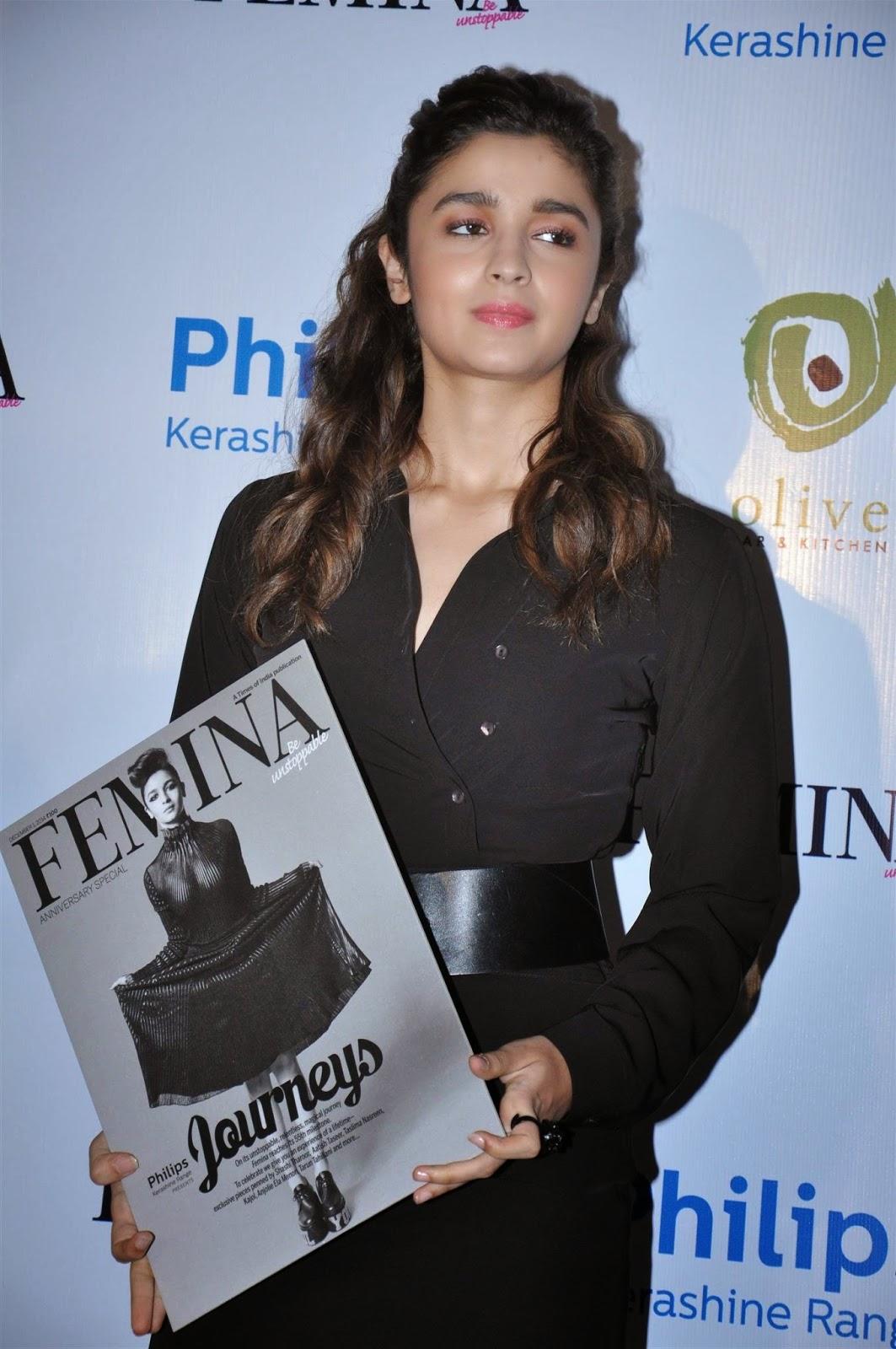 Alia Bhatt Launch Femina Magazine's 55th Anniversary Issue Stills